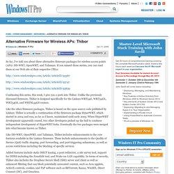 Alternative Firmware for Wireless APs: Thibor