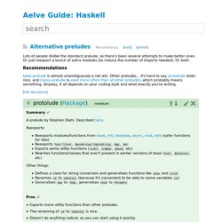 Alternative preludes – Haskell – Aelve Guide