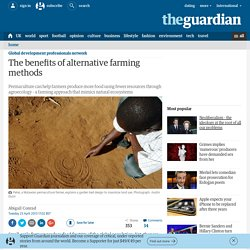 The benefits of alternative farming methods