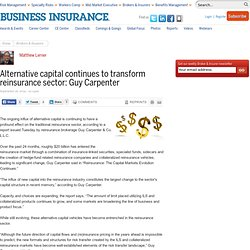 Alternative capital continues to transform reinsurance sector: Guy Carpenter