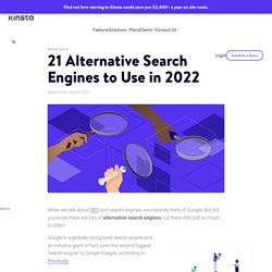 21 Alternative Search Engines To Use in 2020