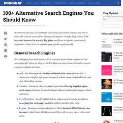 100+ Alternative Search Engines You Should Know