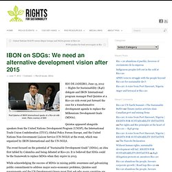 IBON on SDGs: We need alternative development vision after 2015