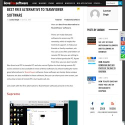 Best Free Alternative To TeamViewer Software