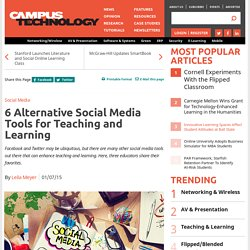 6 Alternative Social Media Tools for Teaching and Learning