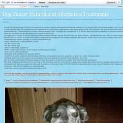 Dog Cancer Natural and Alternative Treatments: Low Dose Naltrexone and Cancer and MS