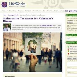 Alternative Treatment for Alzheimer's Disease