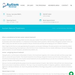Get Natural Treatment for Autism in the USA