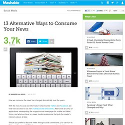13 Alternative Ways to Consume Your News