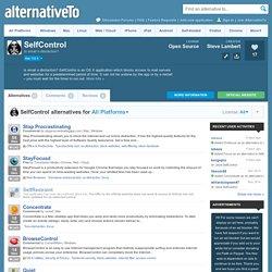 SelfControl Alternatives and Similar Software