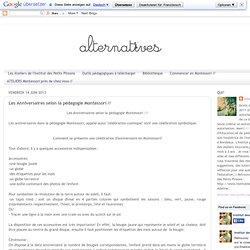 Les Anniversaires selon la pédagogie Montessori //