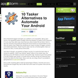 10 Tasker Alternatives to Automate Your Android
