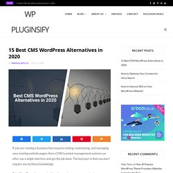 15 Best CMS WordPress Alternatives and Competitors in 2020