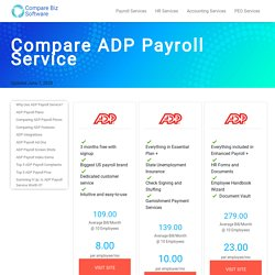 ADP Payroll, Pricing, Features, ADP Reviews Compare ADP Alternatives and Competitors