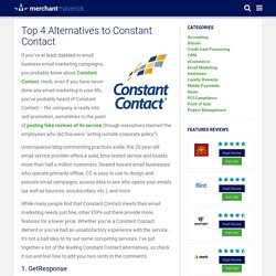 Top 4 Alternatives to Constant Contact - Merchant Maverick