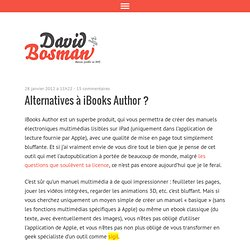 Alternatives à iBooks Author