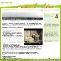 Utilisation du bois: alternatives aux essences de bois menacés d
