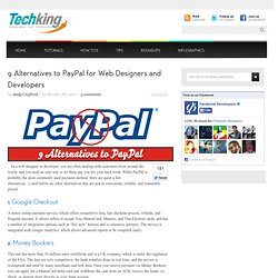 9 Alternatives to PayPal for Web Designers and Developers