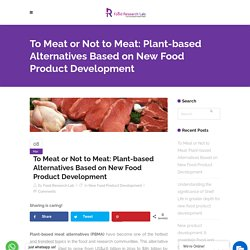 To Meat or Not to Meat: Plant-based Alternatives Based on New Food Product Development