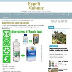 Alternatives à l'Eau de Javel, Esprit Cabane, idees creatives et ecologiques
