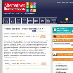Alternatives Economiques Education - Valeur ajoutée: quelle répartition?