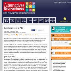 Alternatives Economiques Education - Les limites du PIB
