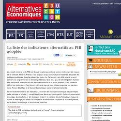La liste des indicateurs alternatifs au PIB adoptée