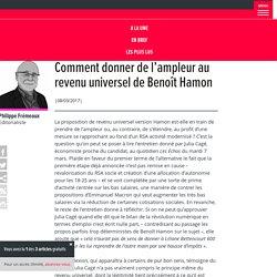 Comment donner de l'ampleur au revenu universel de Benoît Hamon