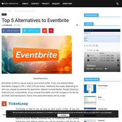 Top 5 Alternatives to Eventbrite