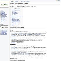 Alternatives to FreeMind