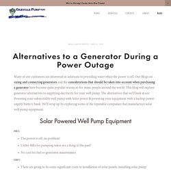 Alternatives to a Generator During a Power Outage