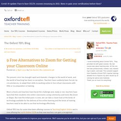 9 Free Alternatives to Zoom for Getting your Classroom Online - Oxford TEFL