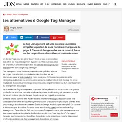 Les alternatives à Google Tag Manager