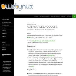 Alternatives à Google. dans Geekeries
