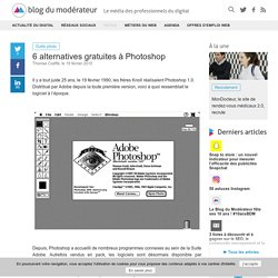 6 alternatives gratuites à Photoshop