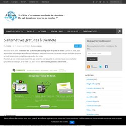 5 alternatives gratuites à Evernote