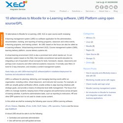 10 alternatives to Moodle for e-Learning software