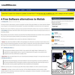 4 Free Software alternatives to Matlab