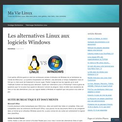 Les alternatives Linux aux logiciels Windows