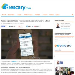 Acompli pour iPhone, l'une des meilleures alternatives à MailDescary