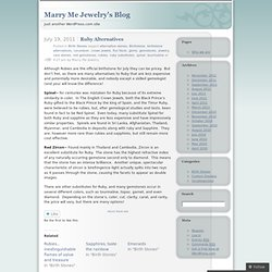 Marry Me Jewelry's Blog