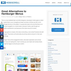 Great Alternatives to Hamburger Menus – UX Planet