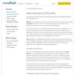 Alternatives to Moodle