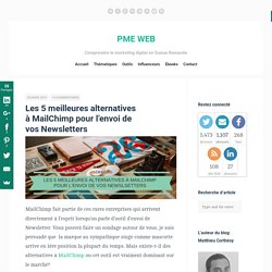 Les 5 meilleures alternatives à MailChimp pour l'envoi de vos Newsletters