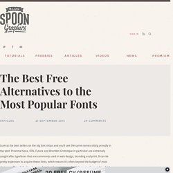 The Best Free Alternatives to the Most Popular Fonts
