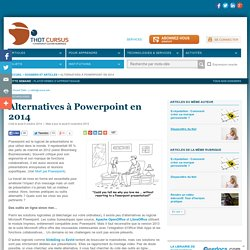 Alternatives à Powerpoint en 2014