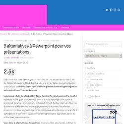 9 alternatives à Powerpoint pour vos présentations – Les Outils Tice