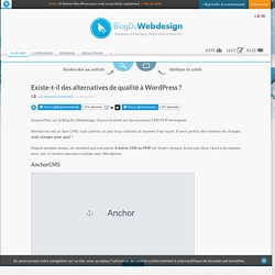 Existe-t-il des alternatives de qualité à WordPress ? - cms-wordpress