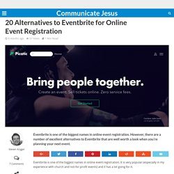 20 alternatives to Eventbrite for online event registration