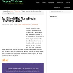 Top 10 Free GitHub Alternatives for Private Repositories